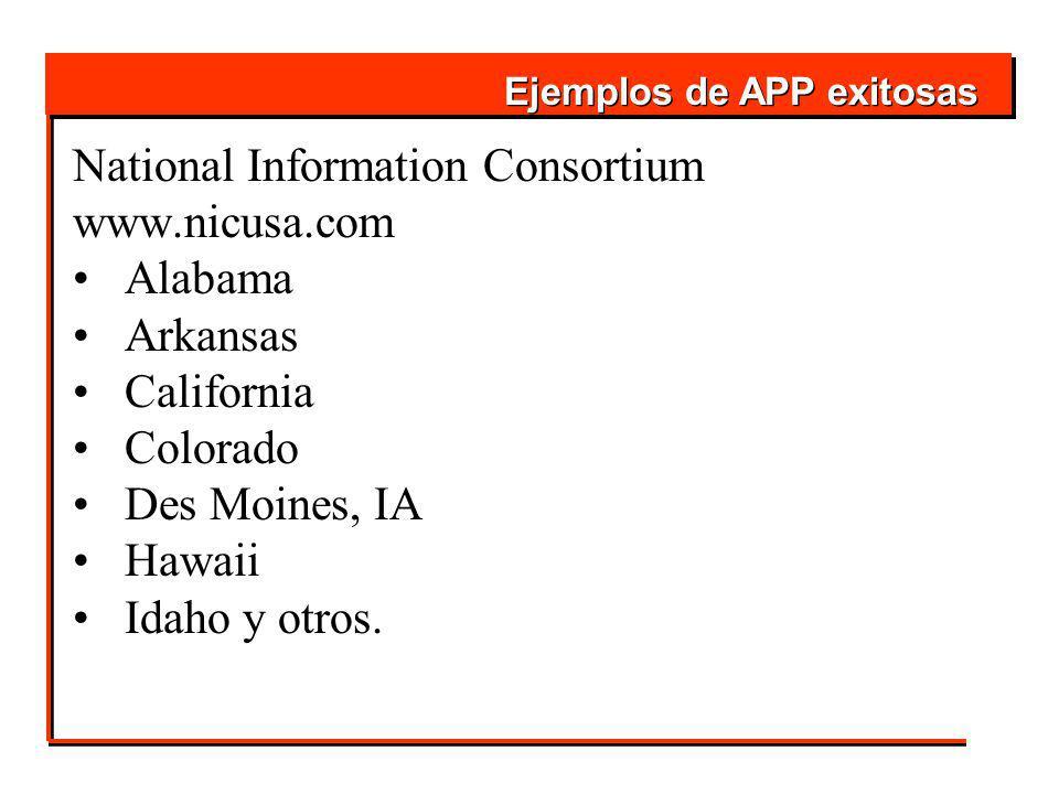 National Information Consortium www.nicusa.com Alabama Arkansas