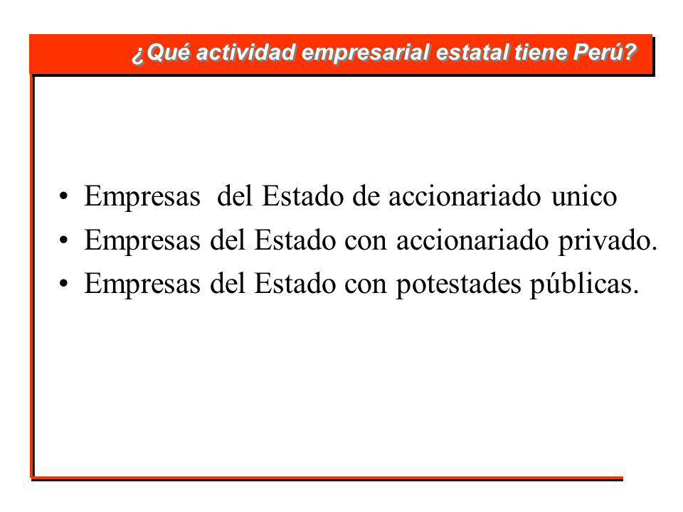 ¿Qué actividad empresarial estatal tiene Perú