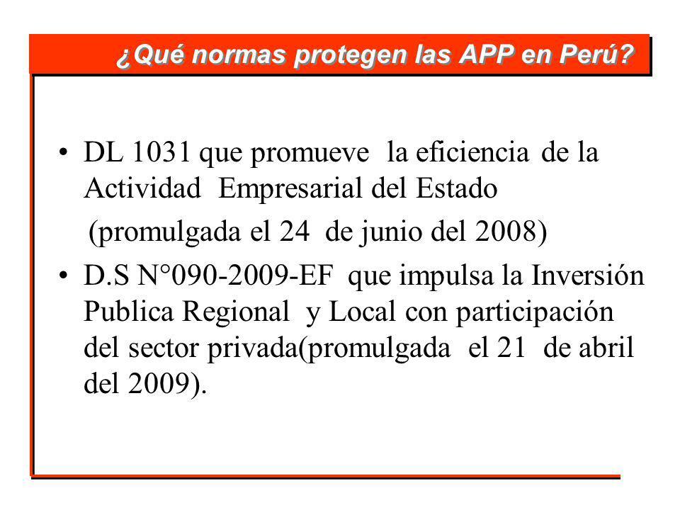¿Qué normas protegen las APP en Perú