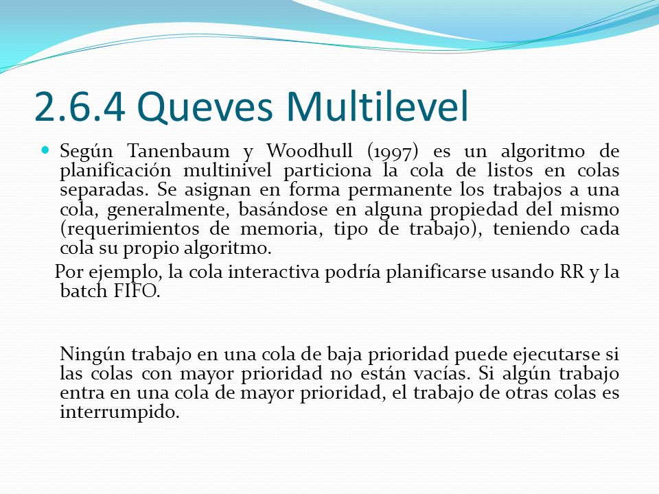 2.6.4 Queves Multilevel