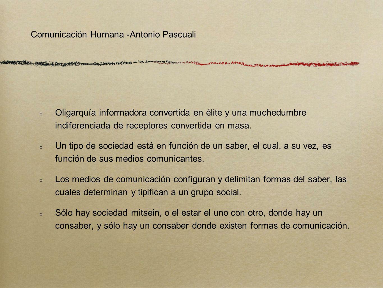 Comunicación Humana -Antonio Pascuali