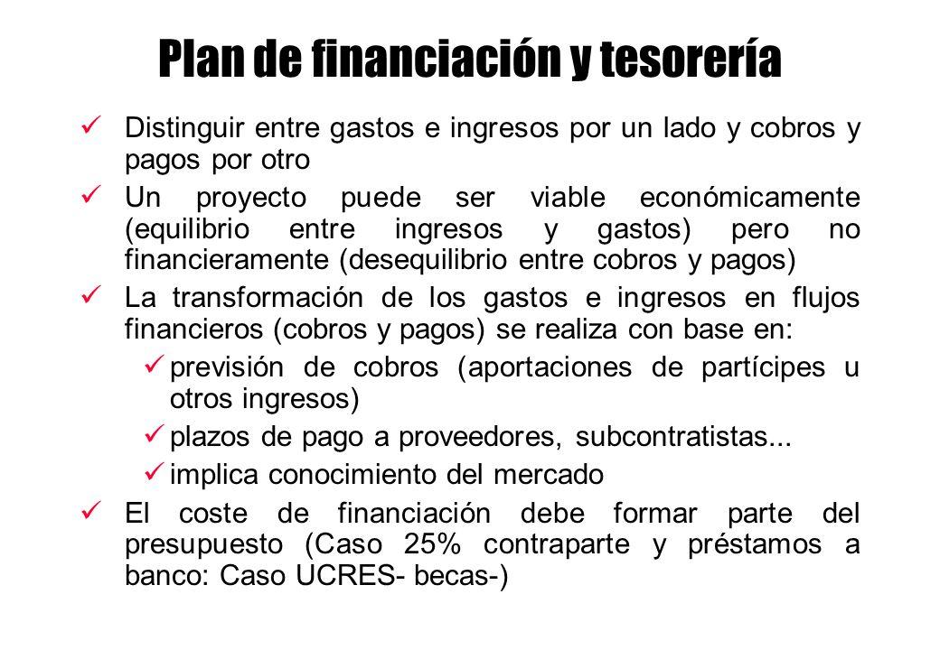 Plan de financiación y tesorería