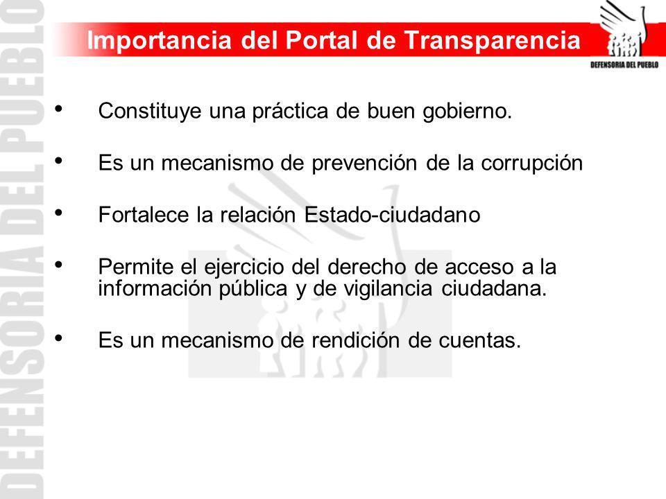Importancia del Portal de Transparencia