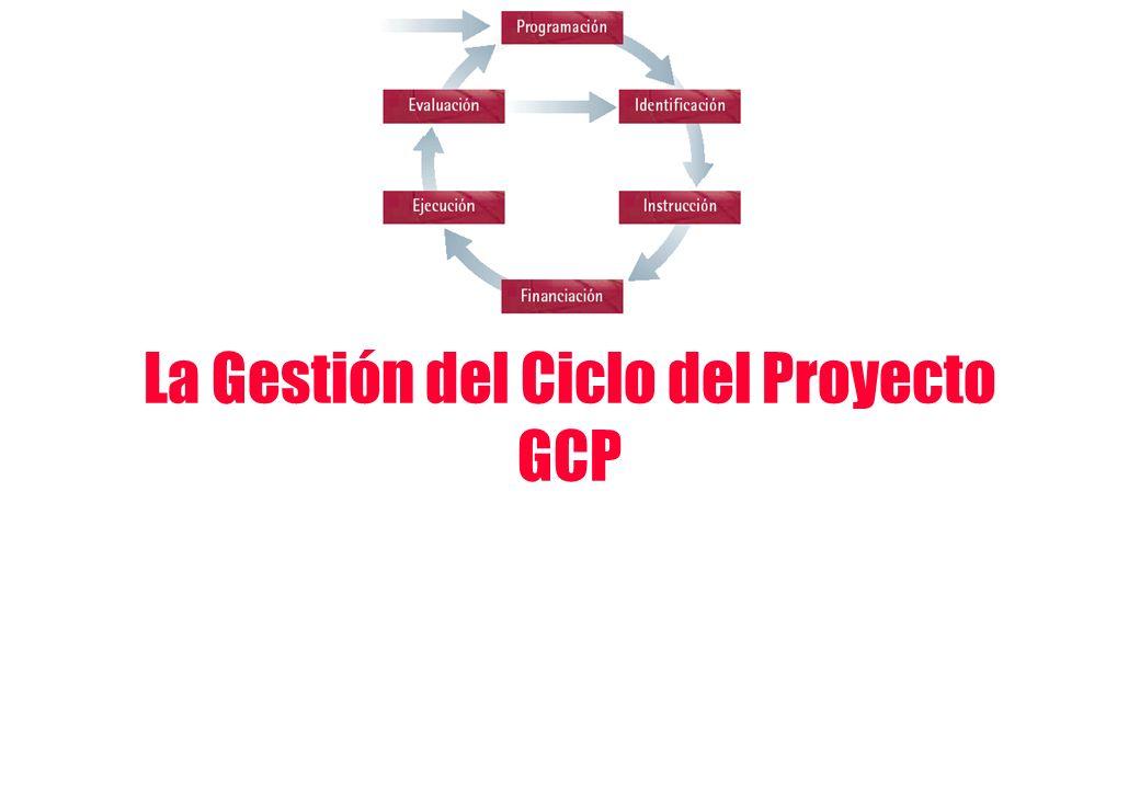 La Gestión del Ciclo del Proyecto GCP