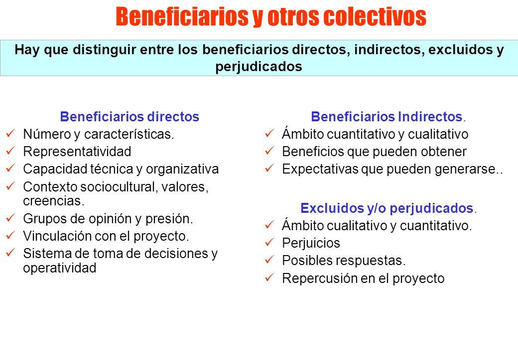 Beneficiarios y otros colectivos