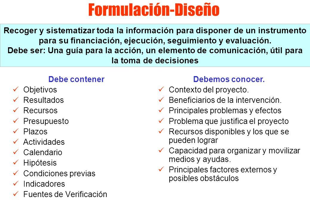 Formulación-Diseño