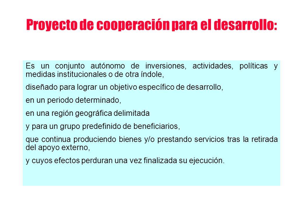 Proyecto de cooperación para el desarrollo: