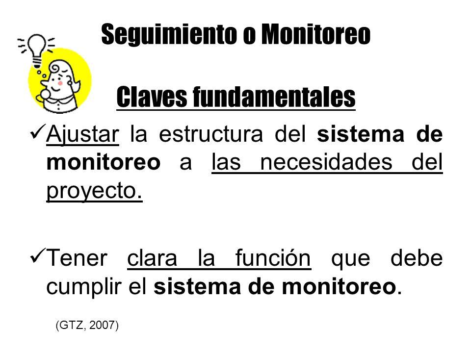Seguimiento o Monitoreo Claves fundamentales