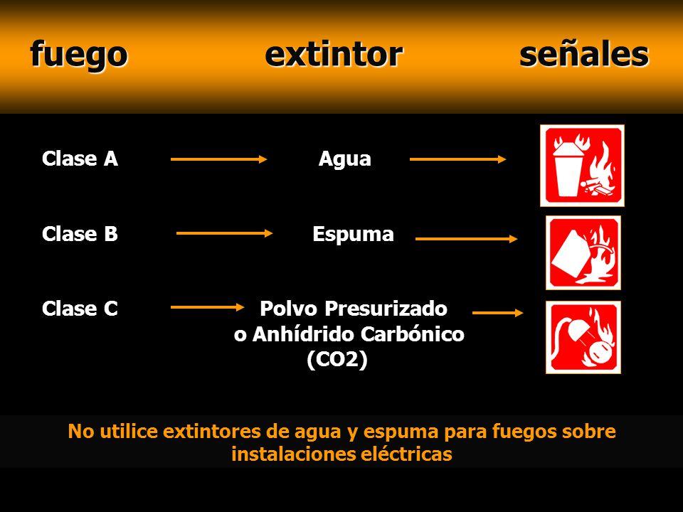 fuego extintor señales