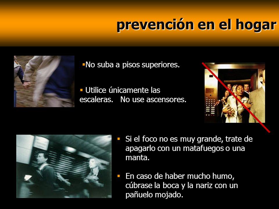 prevención en el hogar No suba a pisos superiores.