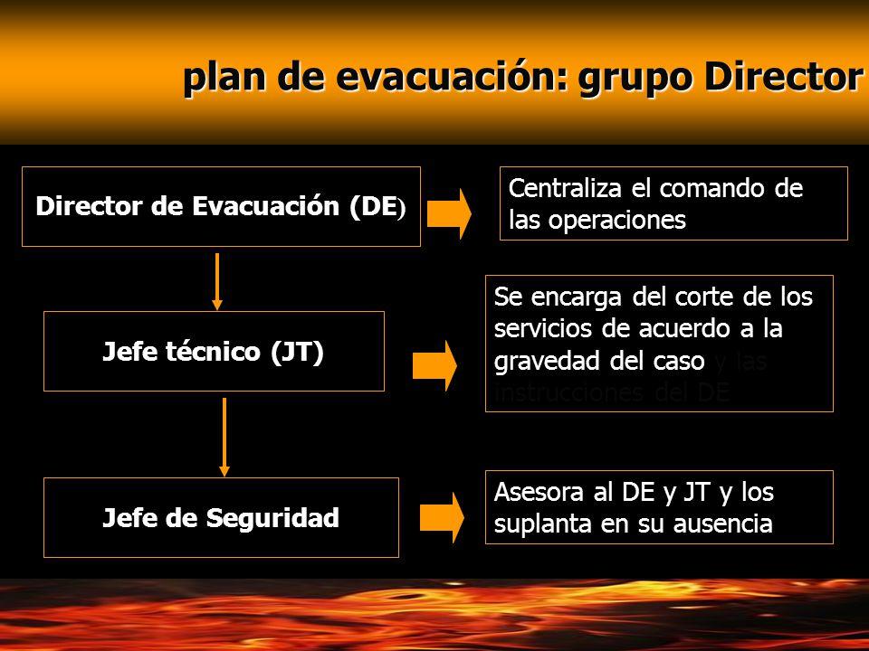 plan de evacuación: grupo Director Director de Evacuación (DE)