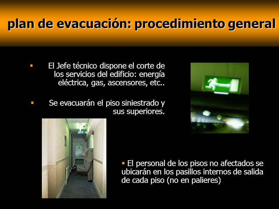 plan de evacuación: procedimiento general
