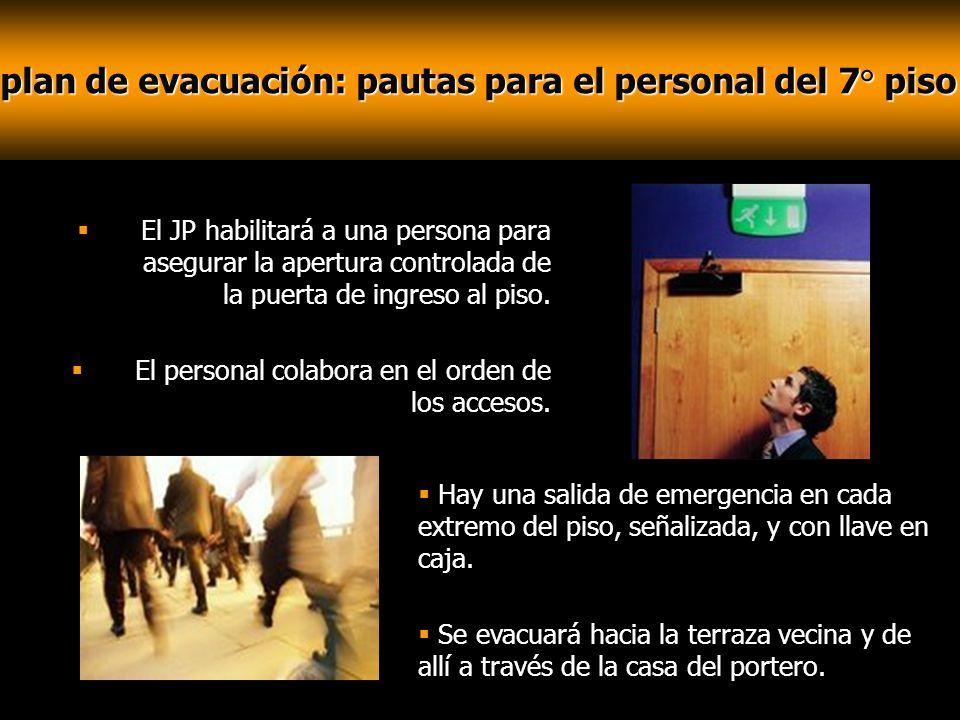 plan de evacuación: pautas para el personal del 7° piso