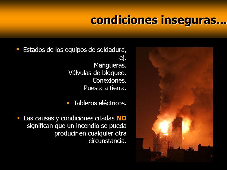 condiciones inseguras...