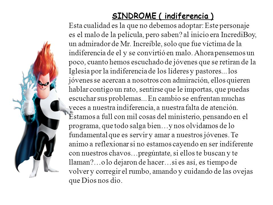 SINDROME ( indiferencia )