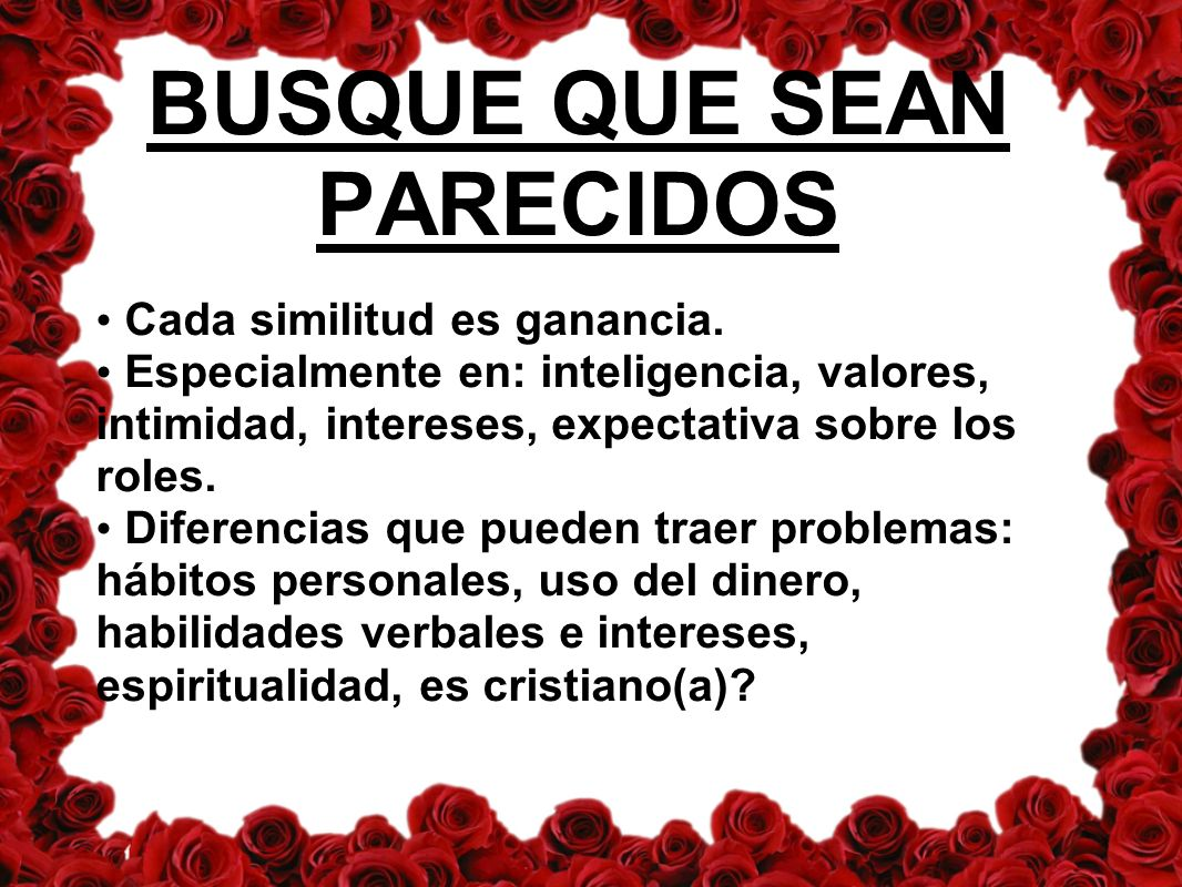 BUSQUE QUE SEAN PARECIDOS