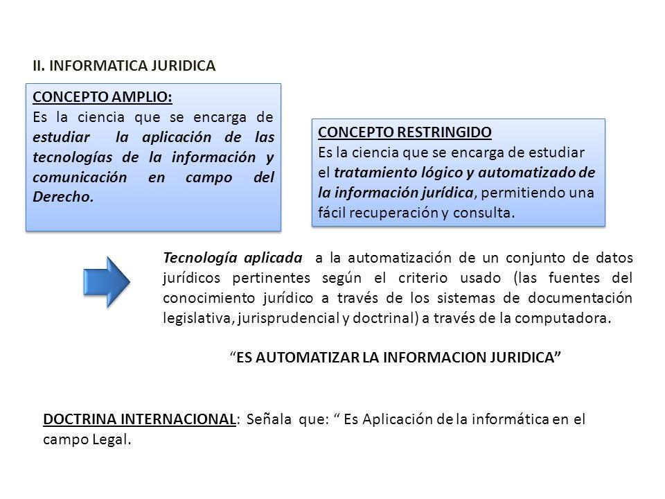 II. INFORMATICA JURIDICA