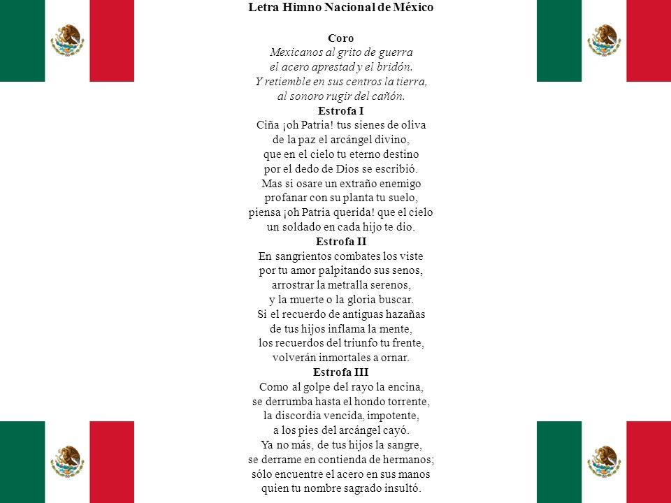 Letra Himno Nacional de México