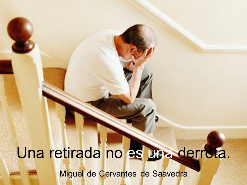 Una retirada no es una derrota.