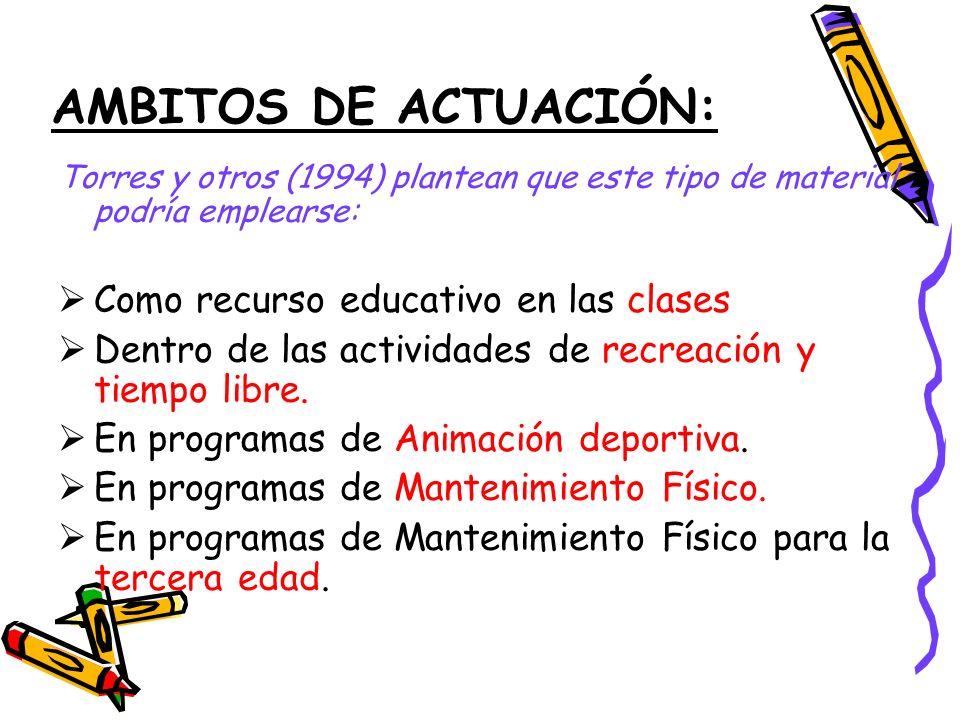 AMBITOS DE ACTUACIÓN: Como recurso educativo en las clases