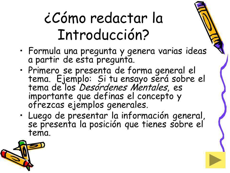 ¿Cómo redactar la Introducción
