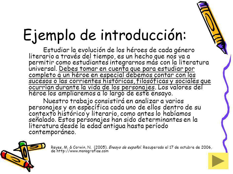 Ejemplo de introducción: