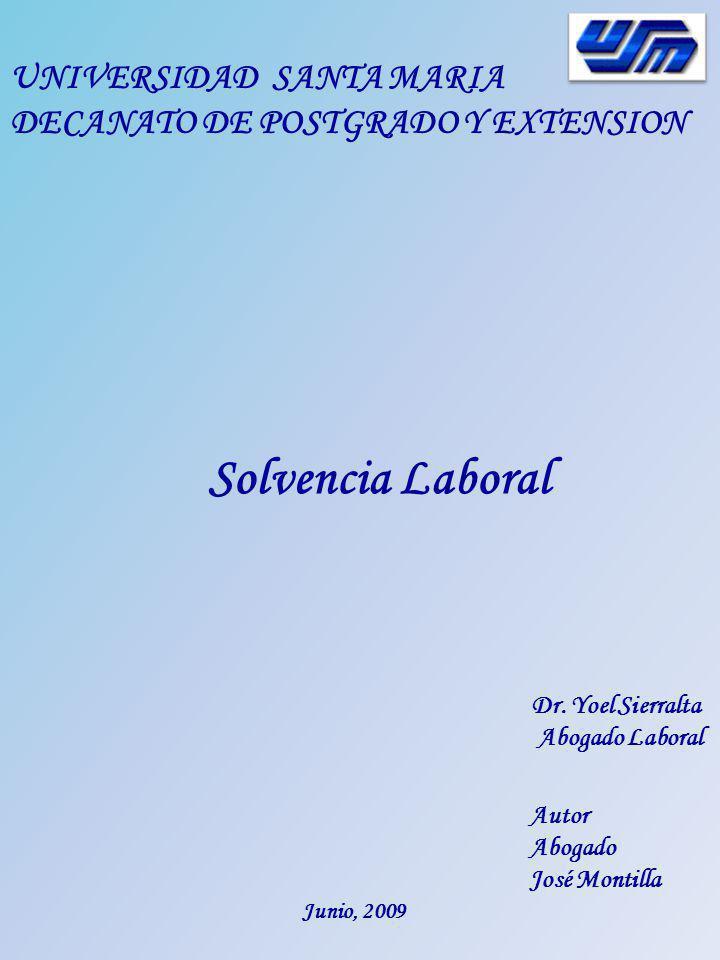 Solvencia Laboral UNIVERSIDAD SANTA MARIA