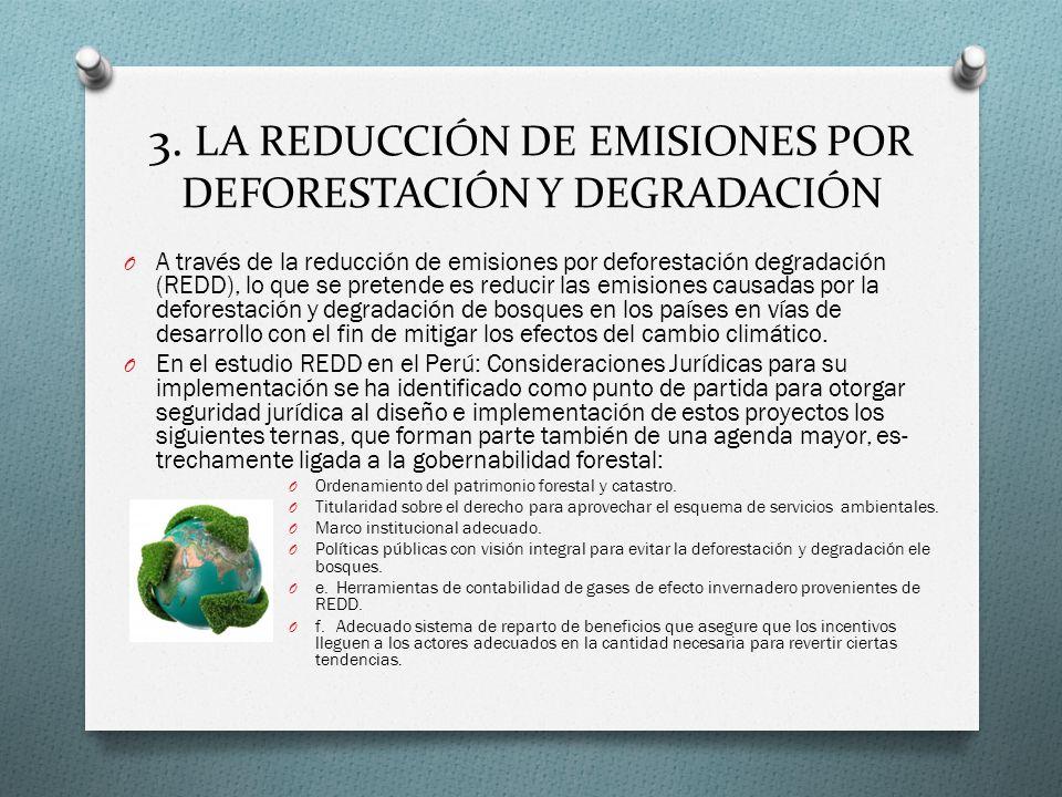 3. LA REDUCCIÓN DE EMISIONES POR DEFORESTACIÓN Y DEGRADACIÓN
