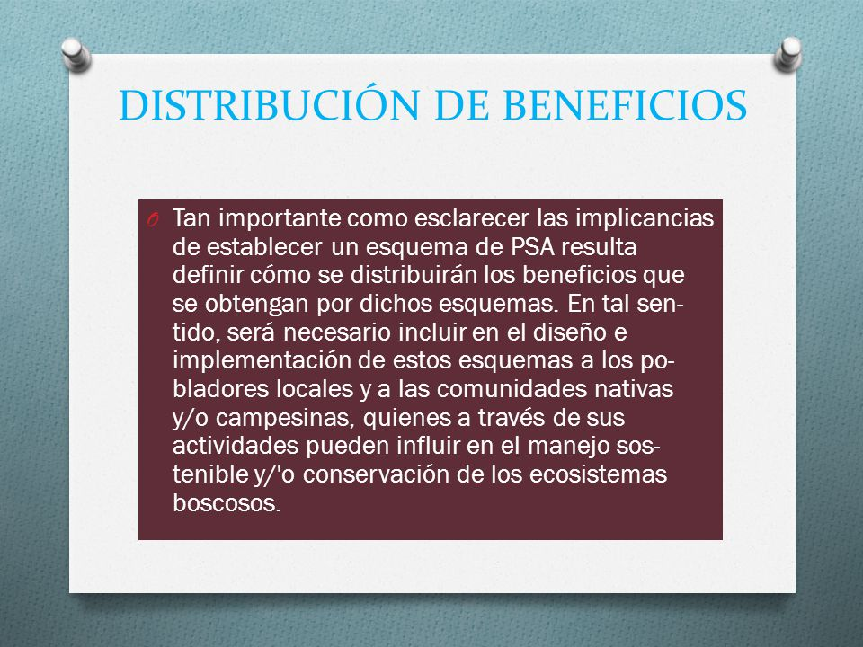 DISTRIBUCIÓN DE BENEFICIOS
