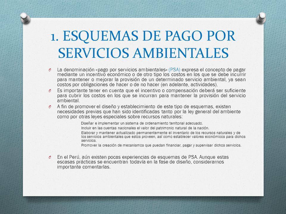 1. ESQUEMAS DE PAGO POR SERVICIOS AMBIENTALES