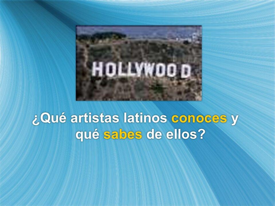 ¿Qué artistas latinos conoces y qué sabes de ellos