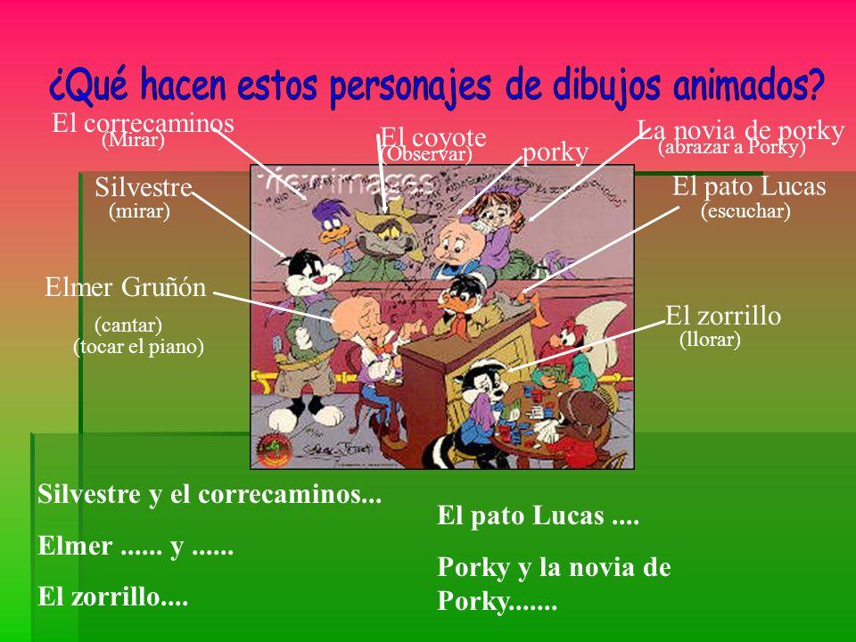 ¿Qué hacen estos personajes de dibujos animados