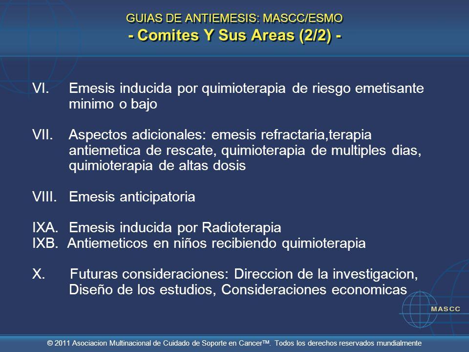 GUIAS DE ANTIEMESIS: MASCC/ESMO - Comites Y Sus Areas (2/2) -