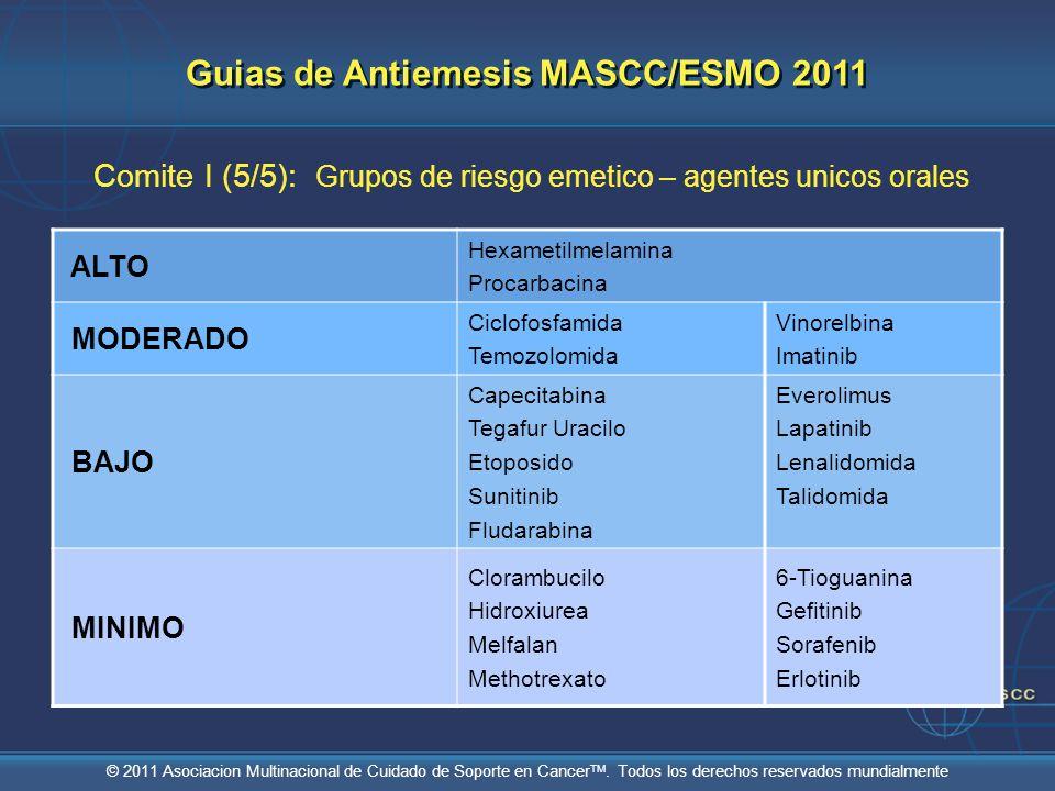 Guias de Antiemesis MASCC/ESMO 2011