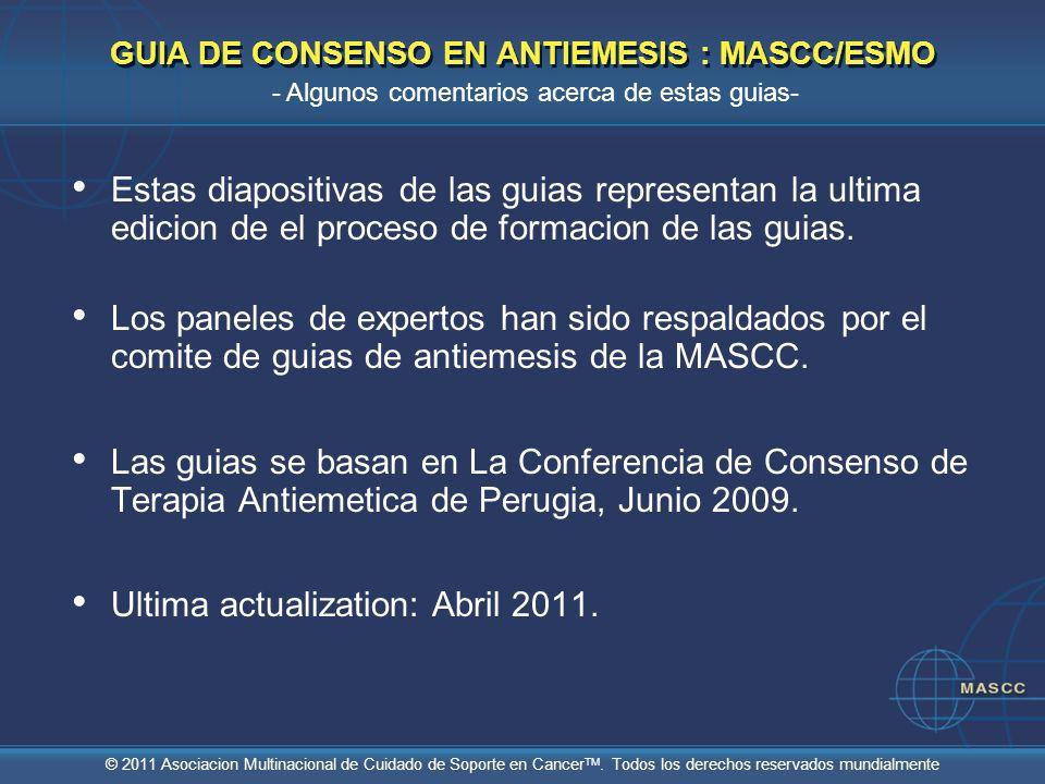 GUIA DE CONSENSO EN ANTIEMESIS : MASCC/ESMO
