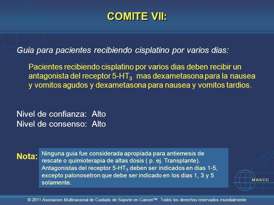 COMITE VII: Guia para pacientes recibiendo cisplatino por varios dias: