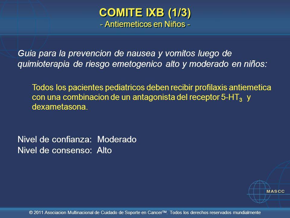 COMITE IXB (1/3) - Antiemeticos en Niños -