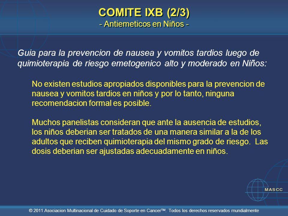 COMITE IXB (2/3) - Antiemeticos en Niños -