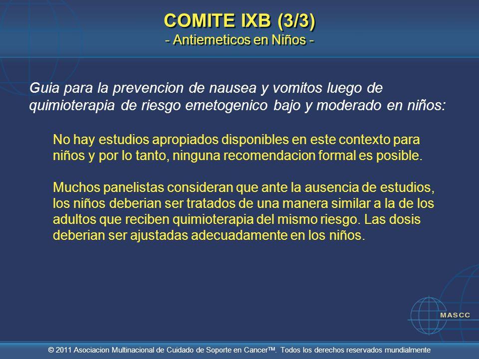 COMITE IXB (3/3) - Antiemeticos en Niños -
