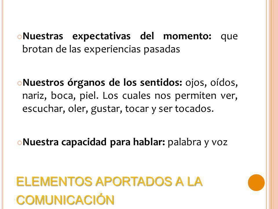 elementos aportados a la comunicación
