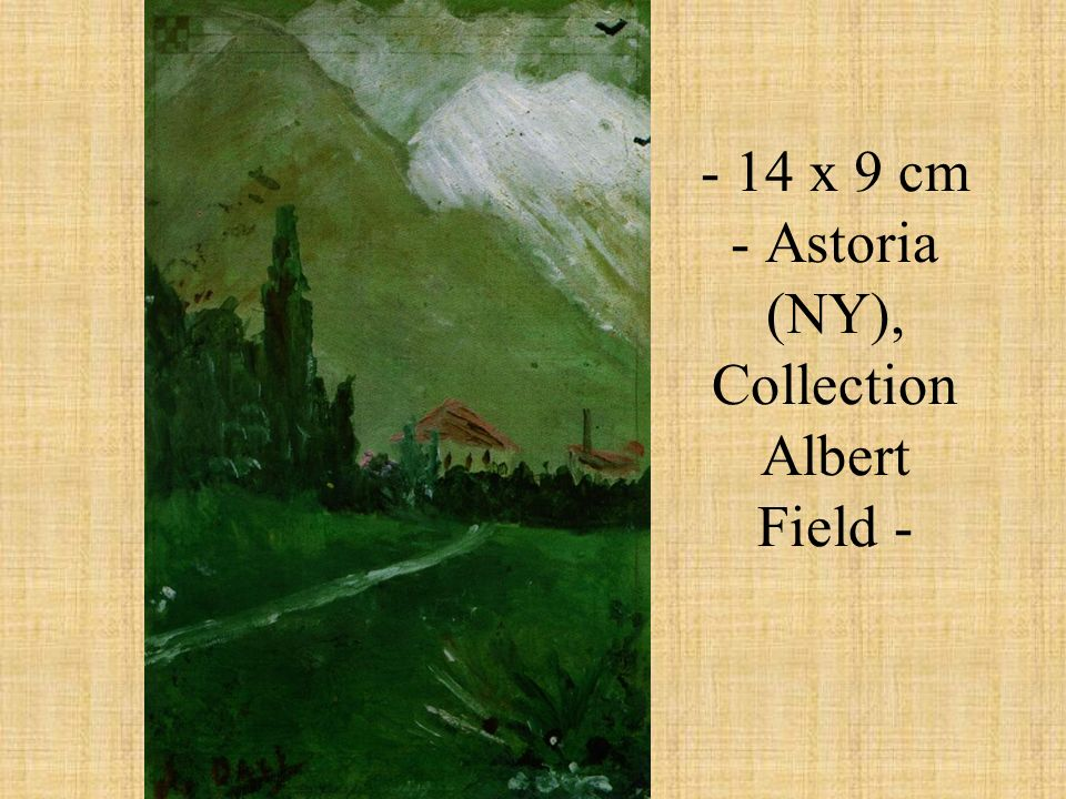 - 14 x 9 cm - Astoria (NY), Collection Albert Field -