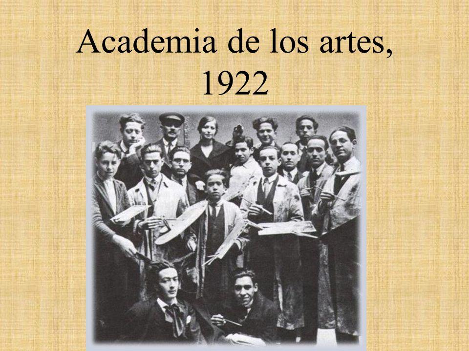 Academia de los artes, 1922