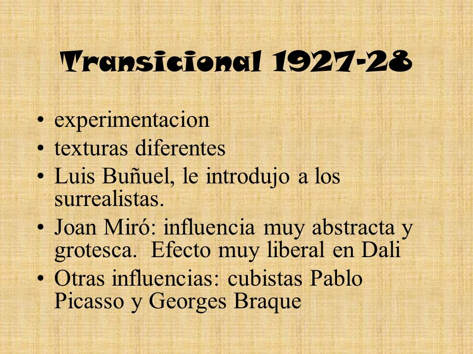 Transicional 1927-28 experimentacion texturas diferentes