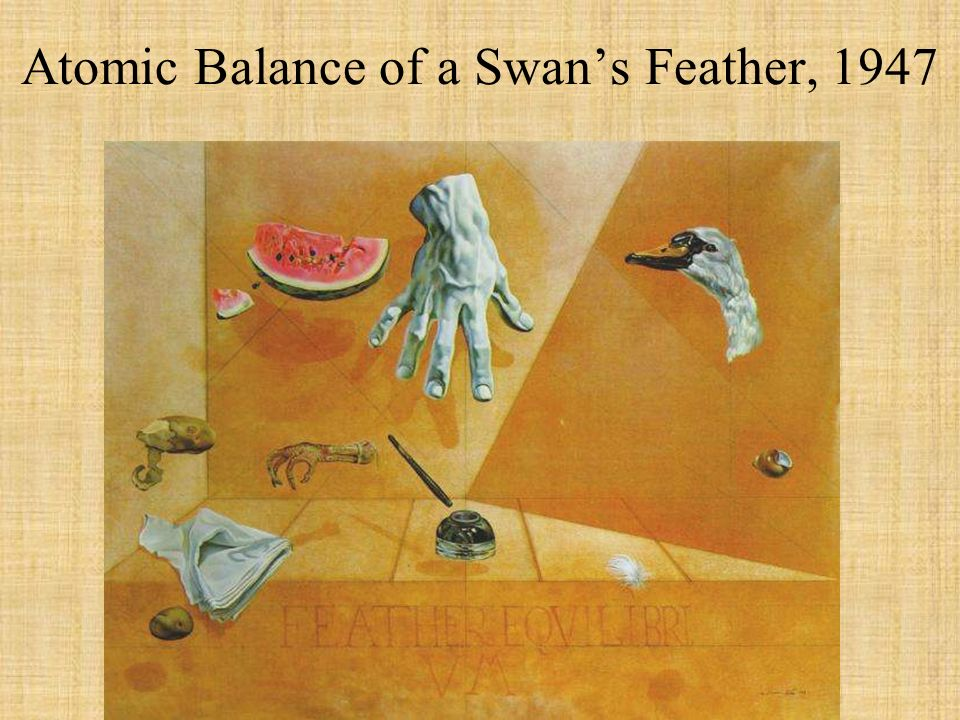 Atomic Balance of a Swan's Feather, 1947