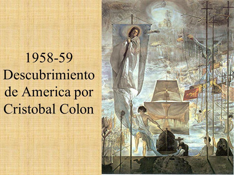 1958-59 Descubrimiento de America por Cristobal Colon