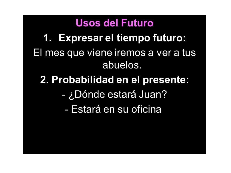 Expresar el tiempo futuro: