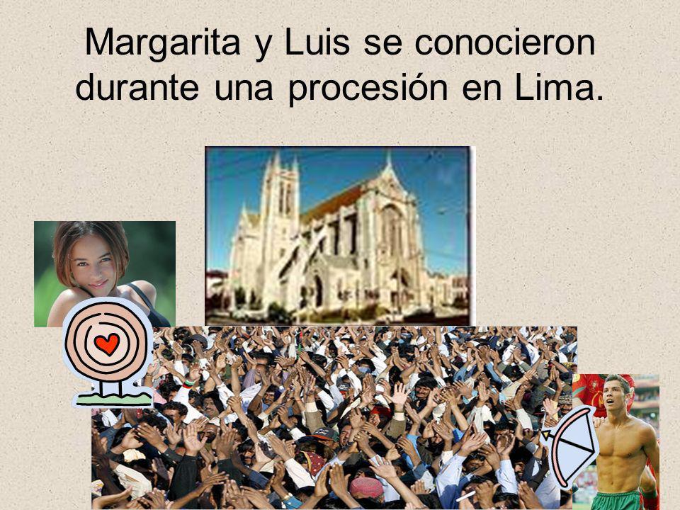 Margarita y Luis se conocieron durante una procesión en Lima.