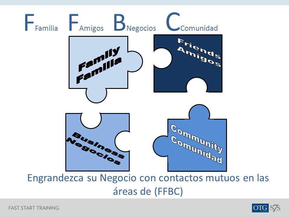 Engrandezca su Negocio con contactos mutuos en las áreas de (FFBC)