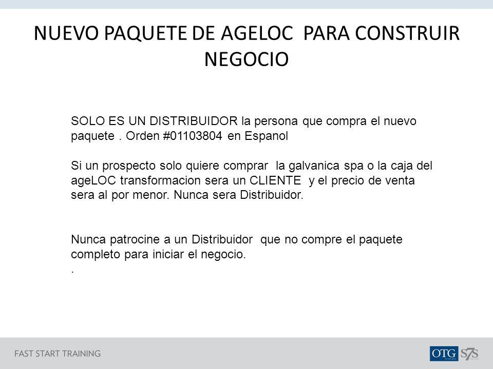 NUEVO PAQUETE DE AGELOC PARA CONSTRUIR NEGOCIO