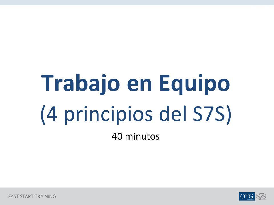 Trabajo en Equipo (4 principios del S7S) 40 minutos